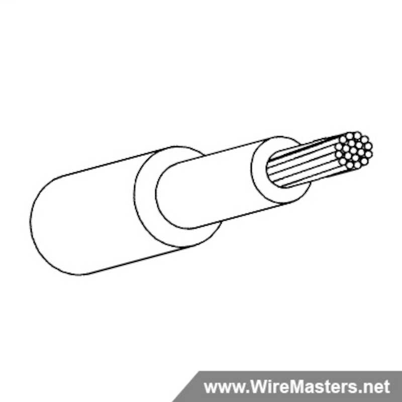 M22759/43-4-9 is a normal weight, high temperature airframe and avionics wire insulated with a dual layer cross-linked, modified ethylene-tetrafluoroethylene (ETFE) insulation