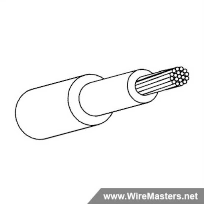 M22759/43-8-9 is a normal weight, high temperature airframe and avionics wire insulated with a dual layer cross-linked, modified ethylene-tetrafluoroethylene (ETFE) insulation