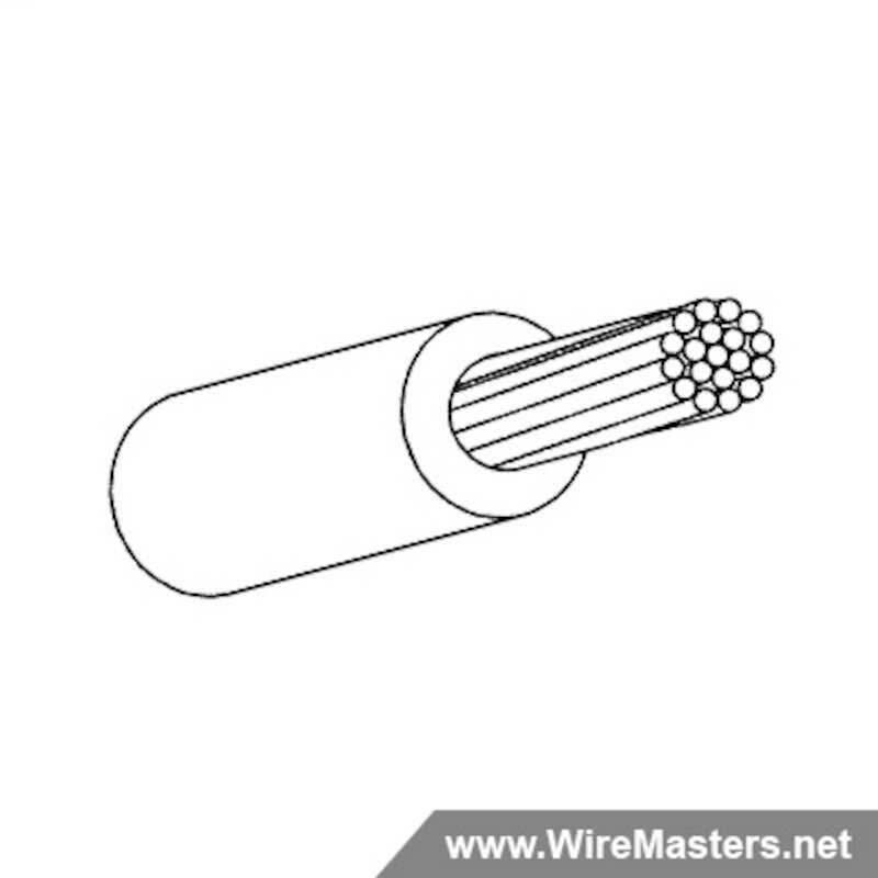 M22759/44-16-0 is a Silver Plated Copper, Cross-linked modified ETFE Jacketed Wire, 200°C. QPL material with certifications and test reports.