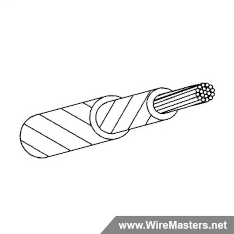 M22759/91-22-9 is a Silver Plated Copper, PTFE Polyimide covered with PTFE Tape Jacketed Wire, 200°C. QPL material with certifications and test reports.