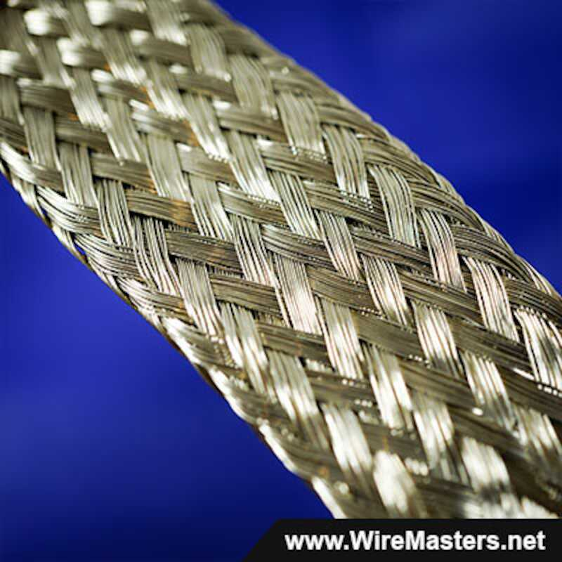 1 Tin Plated Copper Braid - 30 Strand Round QQB575R30T1000