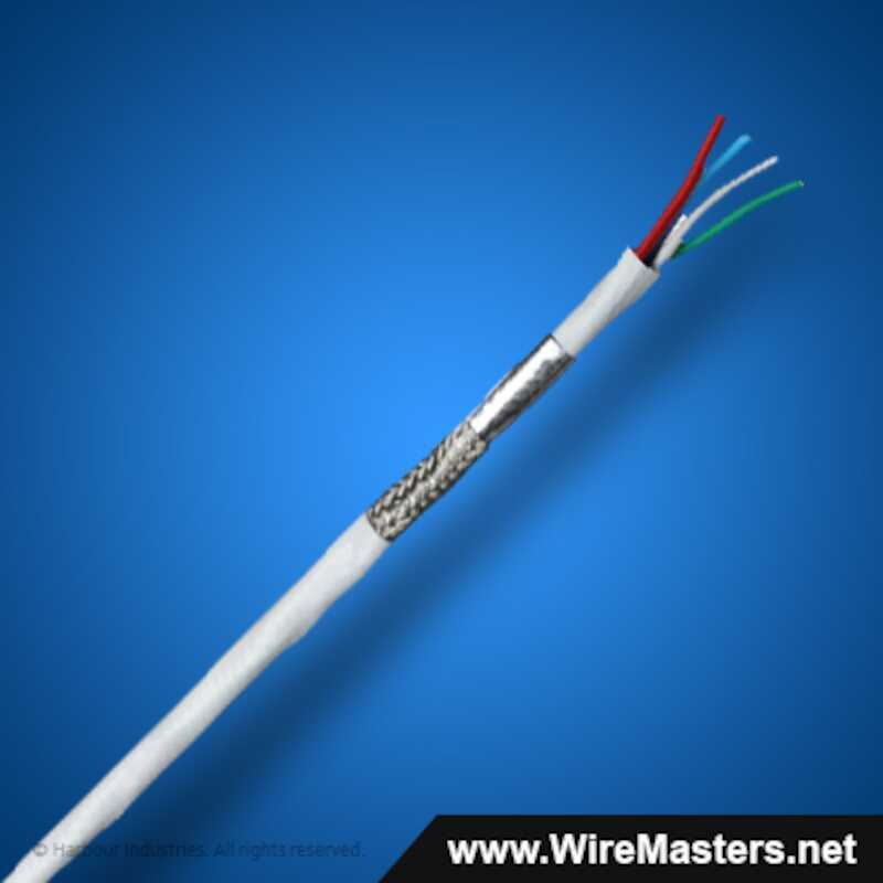 Q10026W301 a Data Master® Quad Ethernet Cable, Quadrax, high speed data cable by Harbour, rated at 100 Ohm.