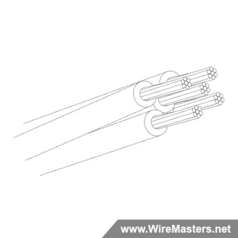 M27500-24RC5U00 is a 5 conductor cable with no shielding and no  jacket with an M22759/11 inner conductor