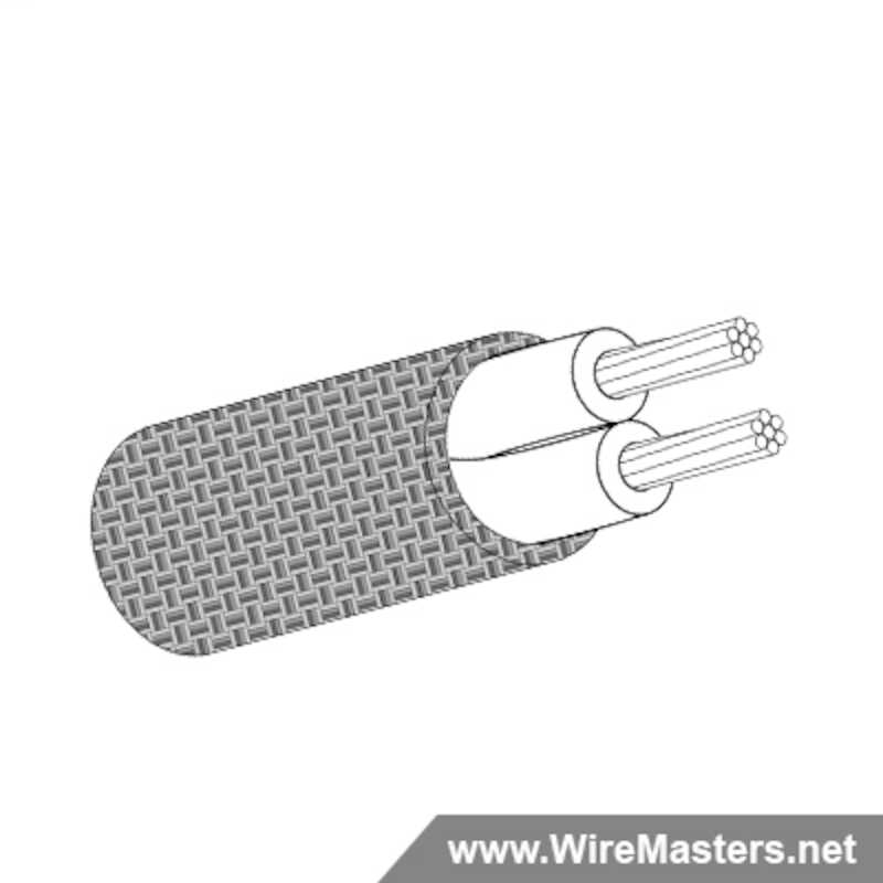 M27500-26RC2T00 is a 2 conductor cable with TIN COATED Cu ROUND shielding and no  jacket with an M22759/11 inner conductor