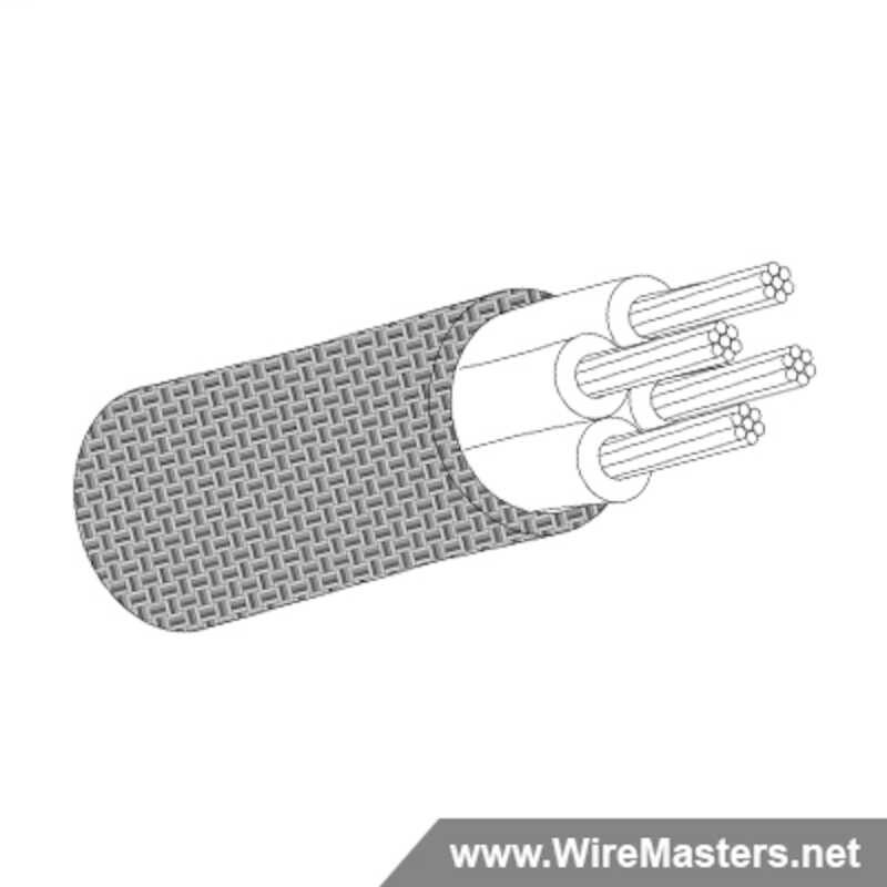 Due to current industry shortages, please expect a lead time of approximately 16 - 22 weeks. M27500-26SB4T00 is a 4 conductor cable with TIN COATED Cu ROUND shielding and no  jacket with an M22759/32 inner conductor