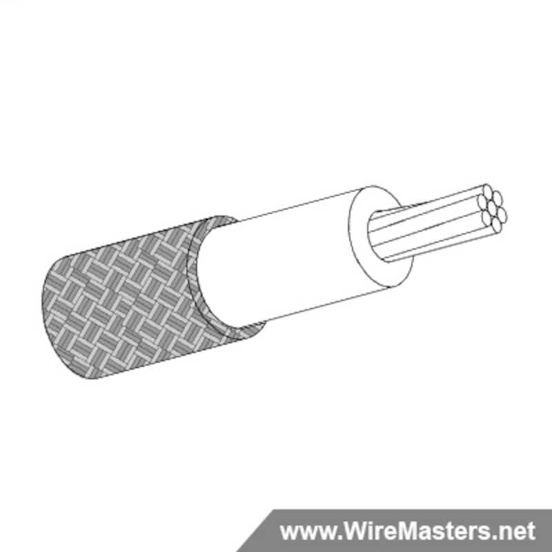 M27500-24SR1S00 is a 1 conductor cable with SILVER COATED Cu ROUND shielding and no  jacket with an M22759/44 inner conductor