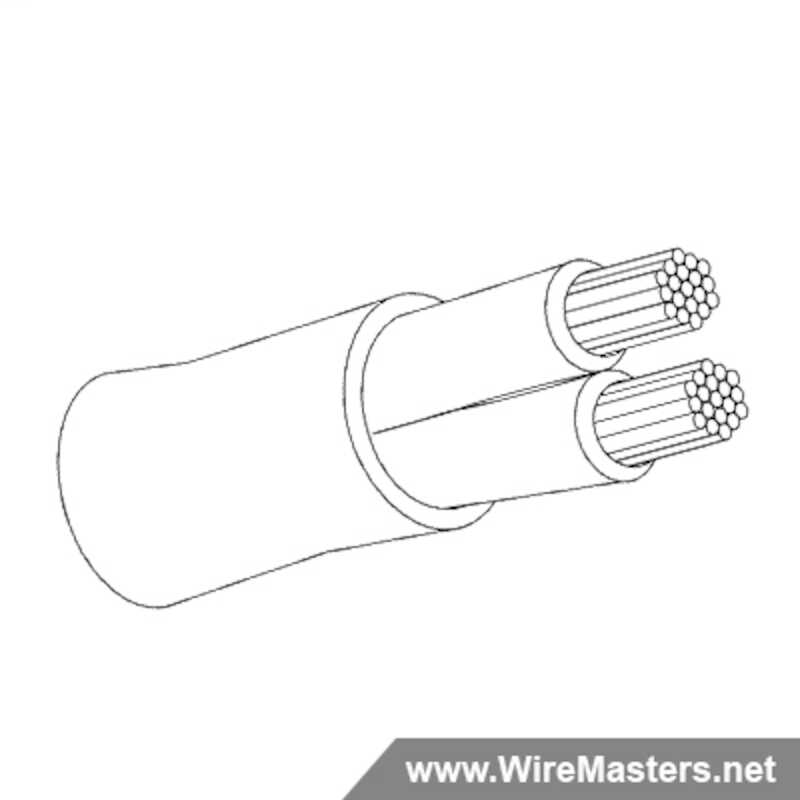M27500A12TE2U14 is a 2 conductor cable with no shielding and Tefzel jacket with an M22759/16 inner conductor
