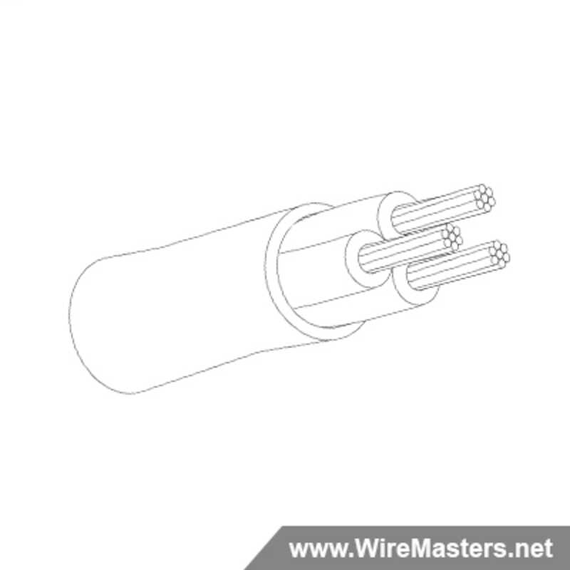 M27500A16TE3U14 is a 3 conductor cable with no shielding and Tefzel jacket with an M22759/16 inner conductor