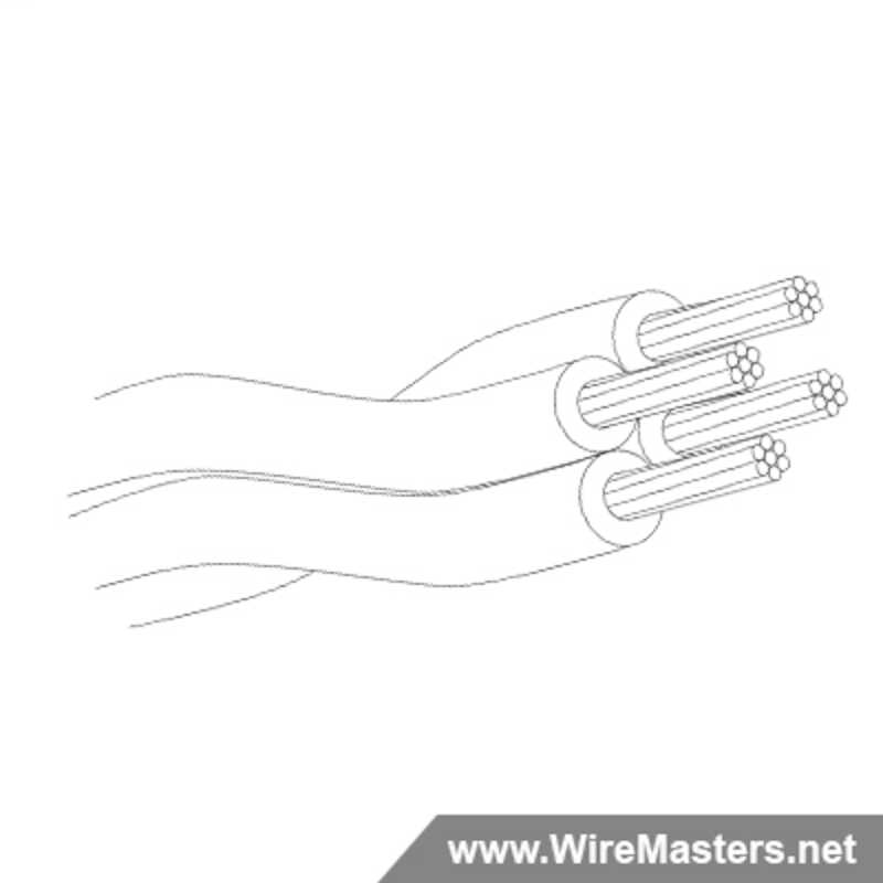 M27500-24TG4U00 is a 4 conductor cable with no shielding and no  jacket with an M22759/18 inner conductor