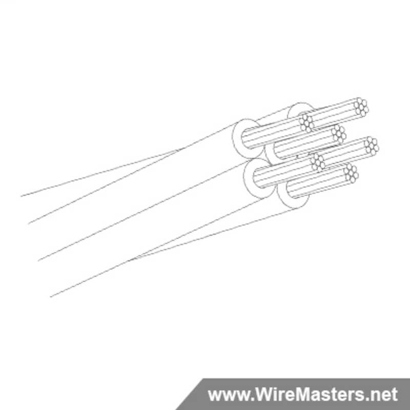 M27500-24TG6U00 is a 6 conductor cable with no shielding and no  jacket with an M22759/18 inner conductor